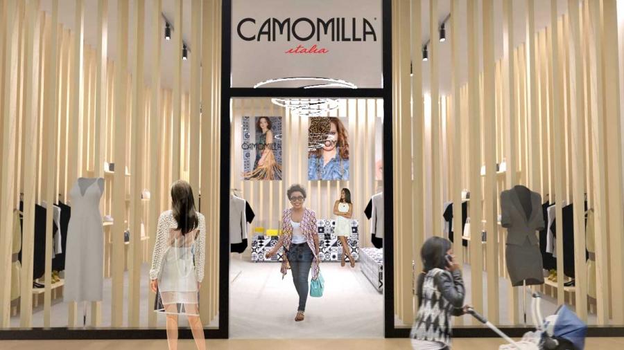 vista esterna concept negozio abbigliamento